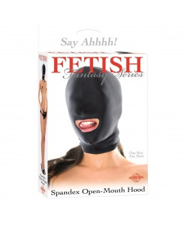 FF SPANDEX OPEN MOUTH HOOD BLACK
