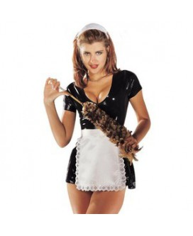LATEX MAID DRESS